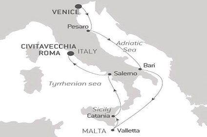 Map of Cruise