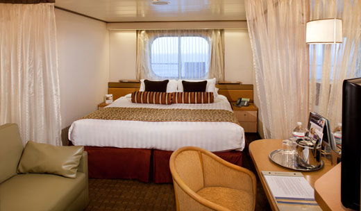 H - Large Oceanview Stateroom (Obstructed Views)