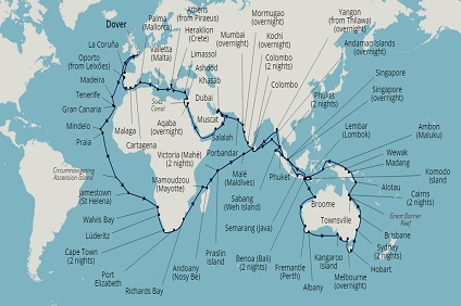 World Cruises & Sectors