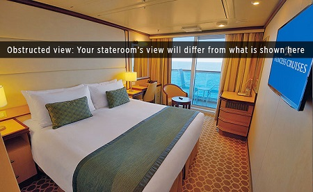 BW - Balcony Stateroom (Obstructed View)